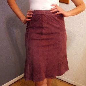 Tommy Bahama Mauve Suede Silk Lined Skirt